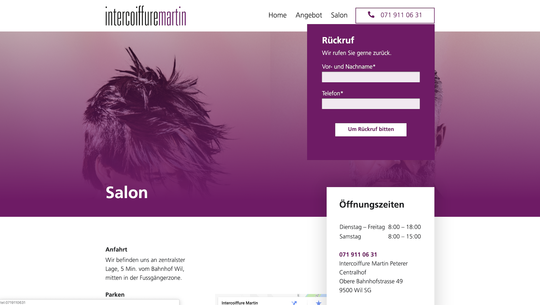 Intercoiffure Martin Peterer Wil SalonSeite