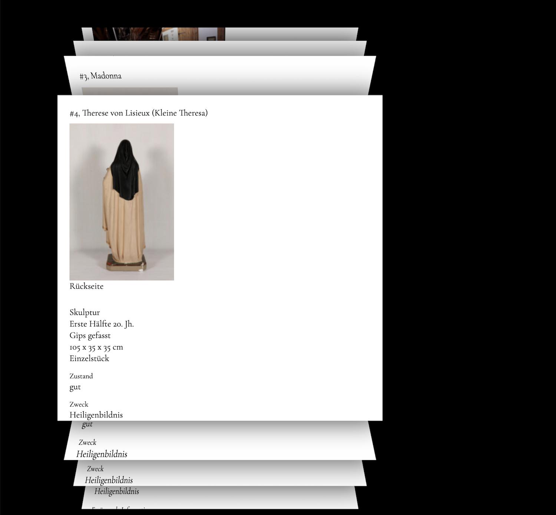 himmleze Katalog Element Webseite