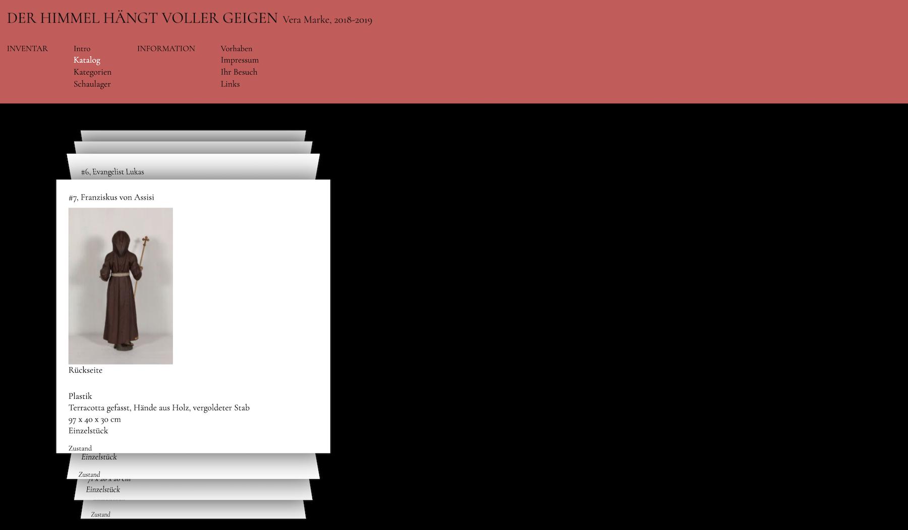 himmleze Katalog Webseite