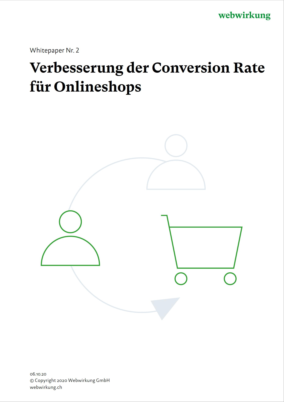 Illustration Verbesserung Conversion Rate Onlineshop