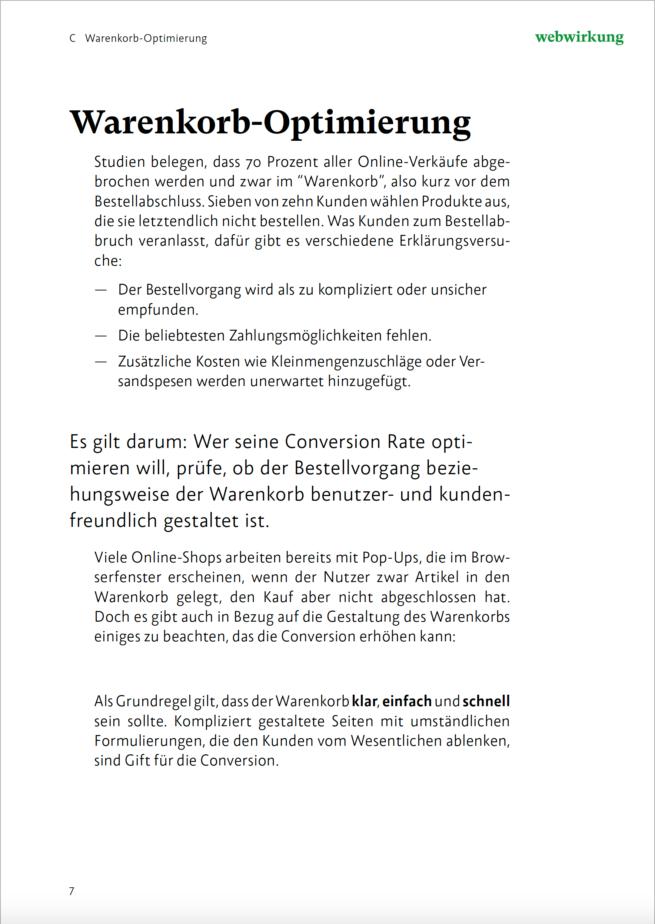 Bild Textausschnitt Conversion Rate Optimierung