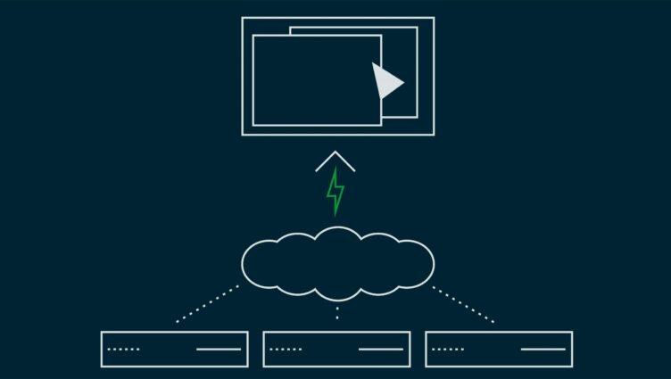 Bild zeigt Hosting mit virtuellen Server