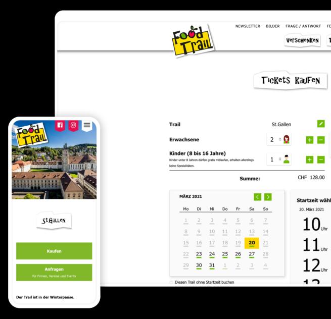App und Kalender Ansicht Mobile