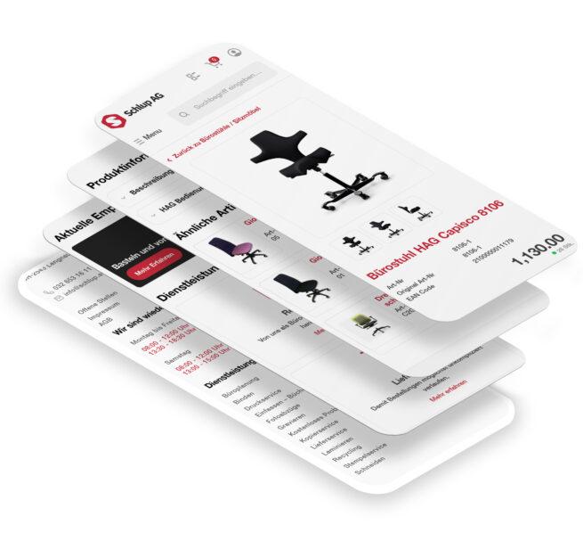 Bild Schlup Büromöbel Stapel verschiedene Ansichten Mobile