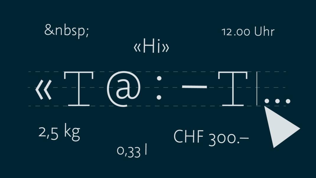 Zeichensetzung im Web